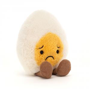 Jellycat - BE6SOR - Boiled Egg Sorry - l = 8 cm x H =14 cm (455834)