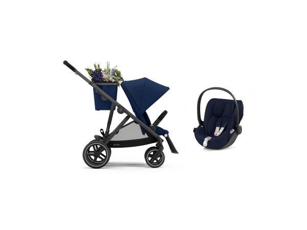 Poussette gazelle s avec siège auto cloud z i-size - noir navy blue - bleu