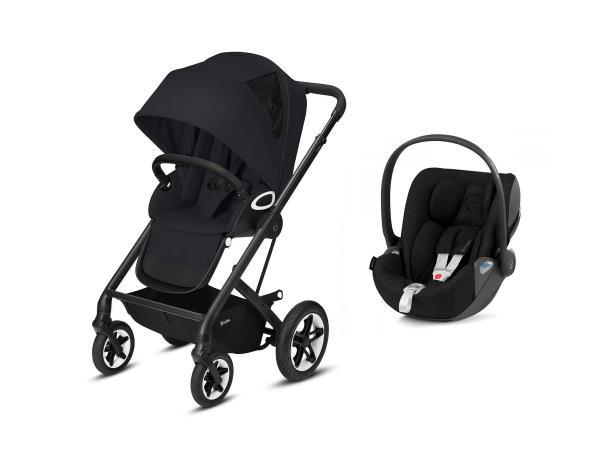 Poussette confortable talos s avec siège-auto cloud z i-sizenoir - deep black - black