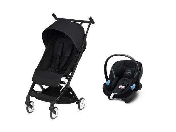 Pack poussette libelle avec siège auto aton m i-size - deep black