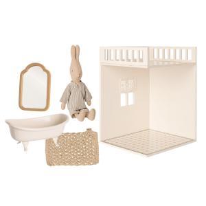 Maileg - BU053 - Set salle de bain miniature avec poupée souris - taille 18 cm (456356)