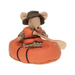 Maileg - BU058 - Poupée souris randonneur et bateau pneumatique (456366)