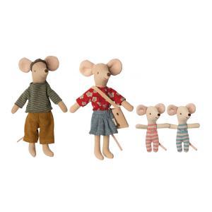 Maileg - BU062 - Set de poupées famille souris - maman, papa et bébés jumeaux (456374)