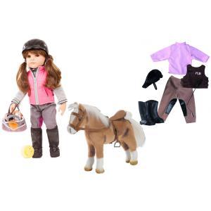 Gotz - BU13 - Poupée Hannah 50 cm avec tenue cavalière et cheval en peluche (456402)