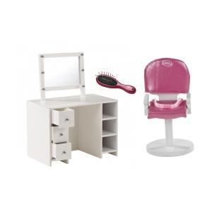 Gotz - BU19 - Table de maquillage avec chaise de  coiffeur et brosse (456412)