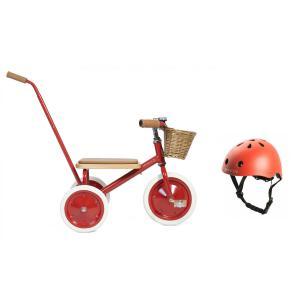 Banwood - BU6 - Tricycle  rouge  avec casque de sécurité pour enfant (456428)
