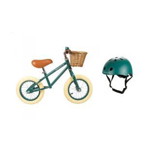 Banwood - BU15 - Draisienne first go roues de 12 pouces et casque vert foncé (456444)