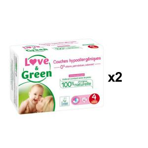 Love And Green - BU25 - Couches Hypoallergéniques 46 Couches Taille 4 (7-14 kg) - X2 (456544)