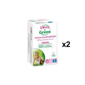 Love And Green - BU41 - Pack de 18 Culottes Hypoallergéniques - Taille 5 (12-25 kg) - X2 (456576)