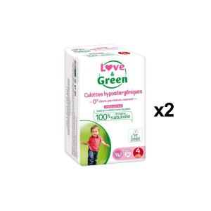 Love And Green - BU49 - Culottes Hypoallergéniques 20 Culottes Taille 4 (8-15 kg) - X2 (456592)