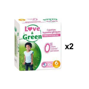 Love And Green - BU57 - Pack de 16 Culottes Hypoallergéniques - Taille 6 (+ de 16 kg) - X2 (456608)