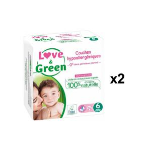 Love And Green - BU61 - Couches Hypoallergéniques 34 Couches Taille 6 (+15 kg - X2 (456616)