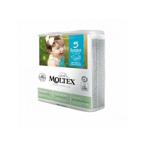 Moltex - BU5 - Pure et Nature - 25 Couches jetables Junior T5 11-25 kg - X2 (456632)