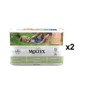 Moltex - BU13 - Pure et Nature - 38 Couches jetables Mini 3-6 kg - X2 (456648)