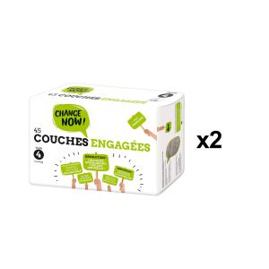 Change Now - BU69 - 45 Couches engagées T4, 7-14kg - X2 (456680)