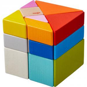 Haba - 305778 - Jeu d'assemblage en 3D Cube Tangram (456924)