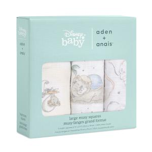 Dumbo - AMSC30010DI - Pack de 3 musy-langes en mousseline de coton Disney Baby - My Darling Dumbo (457064)