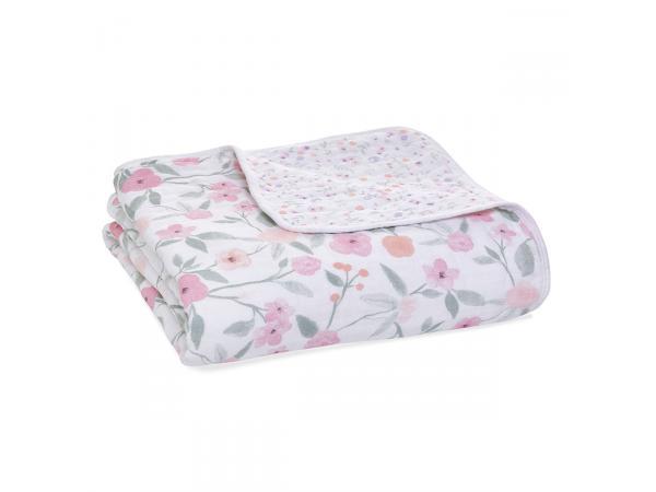 Couverture de rêve dream blanket en mousseline de coton ma fleur