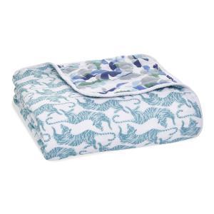 Aden and Anais - ADBC10009 - Couverture de rêve dream blanket en mousseline de coton dancing tigers (457080)