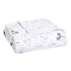 Mickey - ADBC10013DI - Couverture de rêve dream blanket en mousseline de coton Disney Baby - Mickey + Minnie (457082)