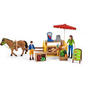 Schleich - 42528 - Étal mobile de la ferme (457198)
