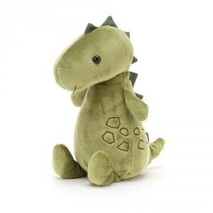 Jellycat - WOD3D - Peluche dinosaure Woddletot - l = 10 x H = 21 cm (457538)