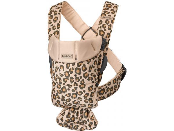 Porte-bébé mini coton beige léopard