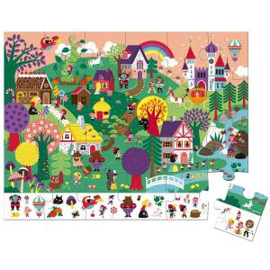 Janod - J02646 - Puzzle d'observation - les contes 24 pcs (458572)