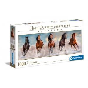Clementoni - 39607 - Puzzle Panorama 1000 pièces - Horses (460068)