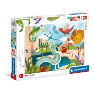 Clementoni - 26065 - Puzzle 60 pièces - Dragons (460312)