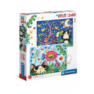 Clementoni - 21618 - Puzzle 2x60 pièces - Bugs (460348)