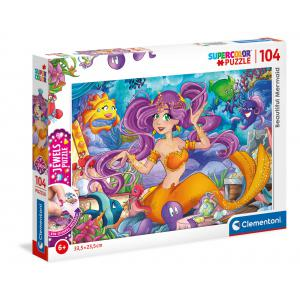 Clementoni - 20178 - Puzzle Jewel 104 pièces - Beautiful Mermaid (460450)