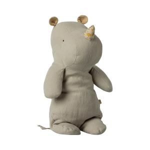 Maileg - 16-1923-00 - Safari friends, Medium Hippo - Gris clair - 34 cm (460986)