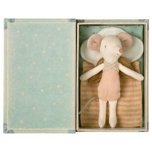 Maileg - 16-1736-01 - Souris Ange, Grande Sœur dans son livre, Angel Stories - 12 cm (461022)