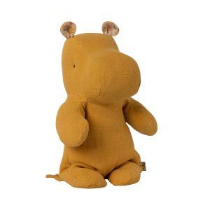 Maileg - 16-1920-00 - Peluche Safari friends, Petit Hippo - Jaune moutarde -  22 cm (461044)