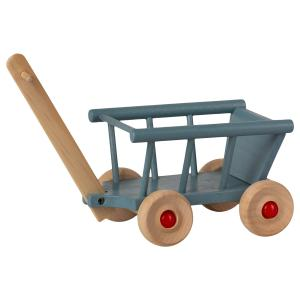 Maileg - 11-1003-00 - Chariot, Micro - Bleu - 12 cm (461094)