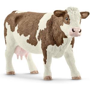 Schleich - 13801 - Figurine Vache Simmental française - Dimension : 13 cm x 4 cm x 7,7 cm (461156)