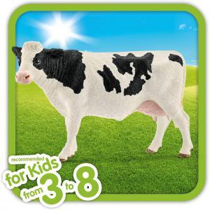 Schleich - 13797 - Figurine Vache Holstein - Dimension : 12,6 cm x 6,4 cm x 8,2 cm (461160)