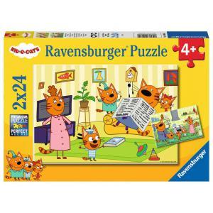 Ravensburger - 05080 - Puzzles 2x24 pièces - A la maison avec les Kid-E-Cats (461204)