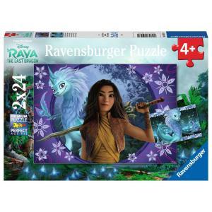 Ravensburger - 05097 - Puzzles 2x24 pièces - Sisu, le dernier dragon / Disney Raya et le dernier dragon (461210)