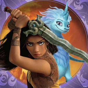 Ravensburger - 05098 - Puzzles 3x49 pièces - Raya, la courageuse guerrière / Disney Raya et le dernier dragon (461212)