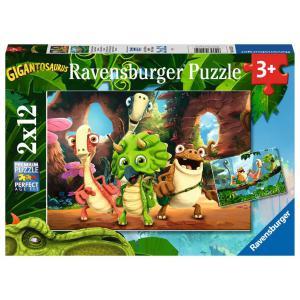 Ravensburger - 05125 - Puzzles 2x12 pièces - La petite bande de dinosaures / Gigantosaurus (461222)