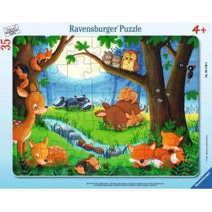Ravensburger - 05146 - Puzzle cadre 30-48 pièces - Les petits animaux s'endorment (461230)