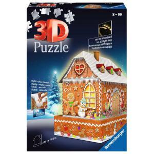Ravensburger - 11237 - Puzzle 3D Maison de Noël en pain d'épices (461250)