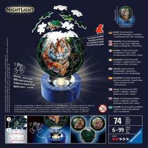 Ravensburger - 11248 - Puzzle 3D Ball 72 p illuminé - Les grands félins (461254)