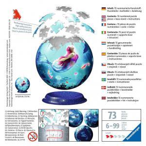 Ravensburger - 11250 - Puzzle 3D Ball 72 pièces - Les sirènes (461256)