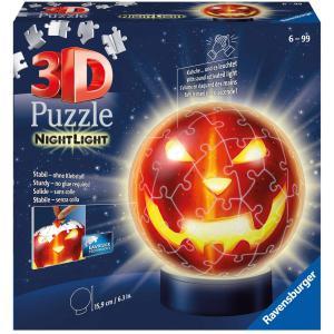 Ravensburger - 11253 - Puzzle 3D Ball 72 p illuminé - Citrouille d'Halloween (461260)