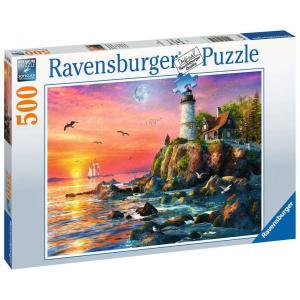 Ravensburger - 16581 - Puzzle 500 pièces - Phare au coucher du soleil (461338)