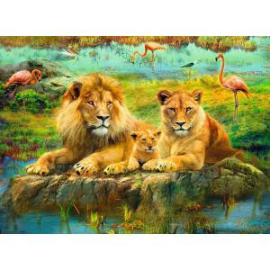 Ravensburger - 16584 - Puzzle 500 pièces - Lions dans la savane (461342)