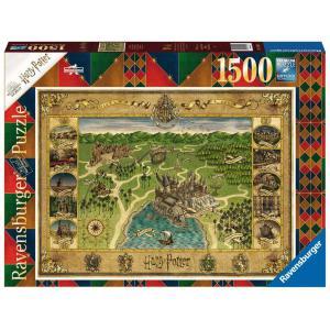 Ravensburger - 16599 - Puzzle 1500 pièces - La carte de Poudlard / Harry Potter (461356)